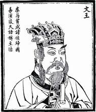 明·朱天然《历代古人像赞》中的周文王