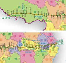 318国道简图(二)