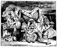 《爱丽丝梦游仙境》第6章:小猪和胡椒。